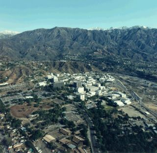 Aerial view of NASA's Jet Propulsion Laboratory