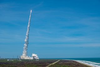 An Atlas V rocket carrying a missile-warning satellite lifted off from Cape Canaveral Space Force Station in Florida on May 18, 2021.