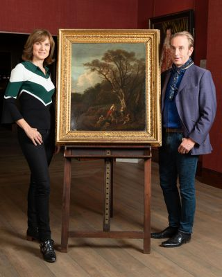 Fiona Bruce and Philip Mould inFake or Fortune?