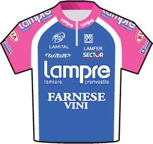 Lampre-Franese Vini jersey Tour de France 2010