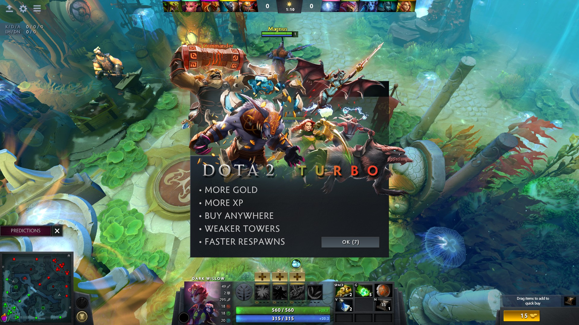 dota 2 turbo mode is the best thing valve has added to the game in