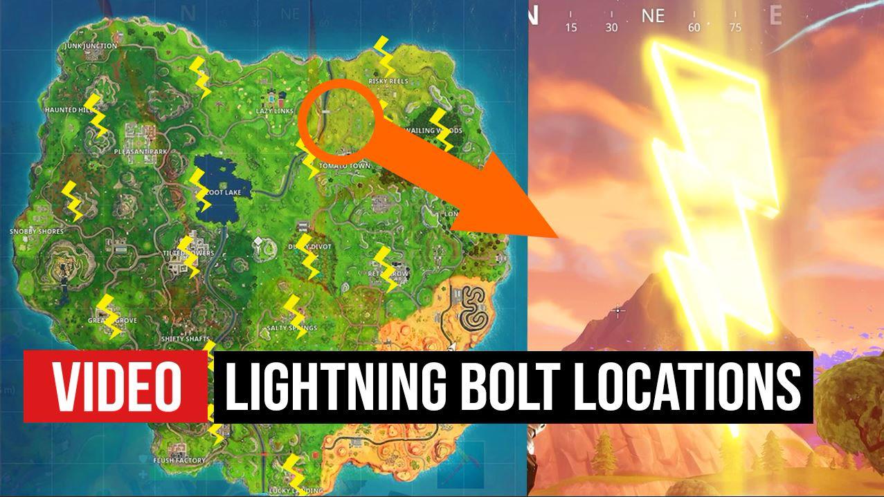 fortnite all 17 lightning bolt locations pc gamer