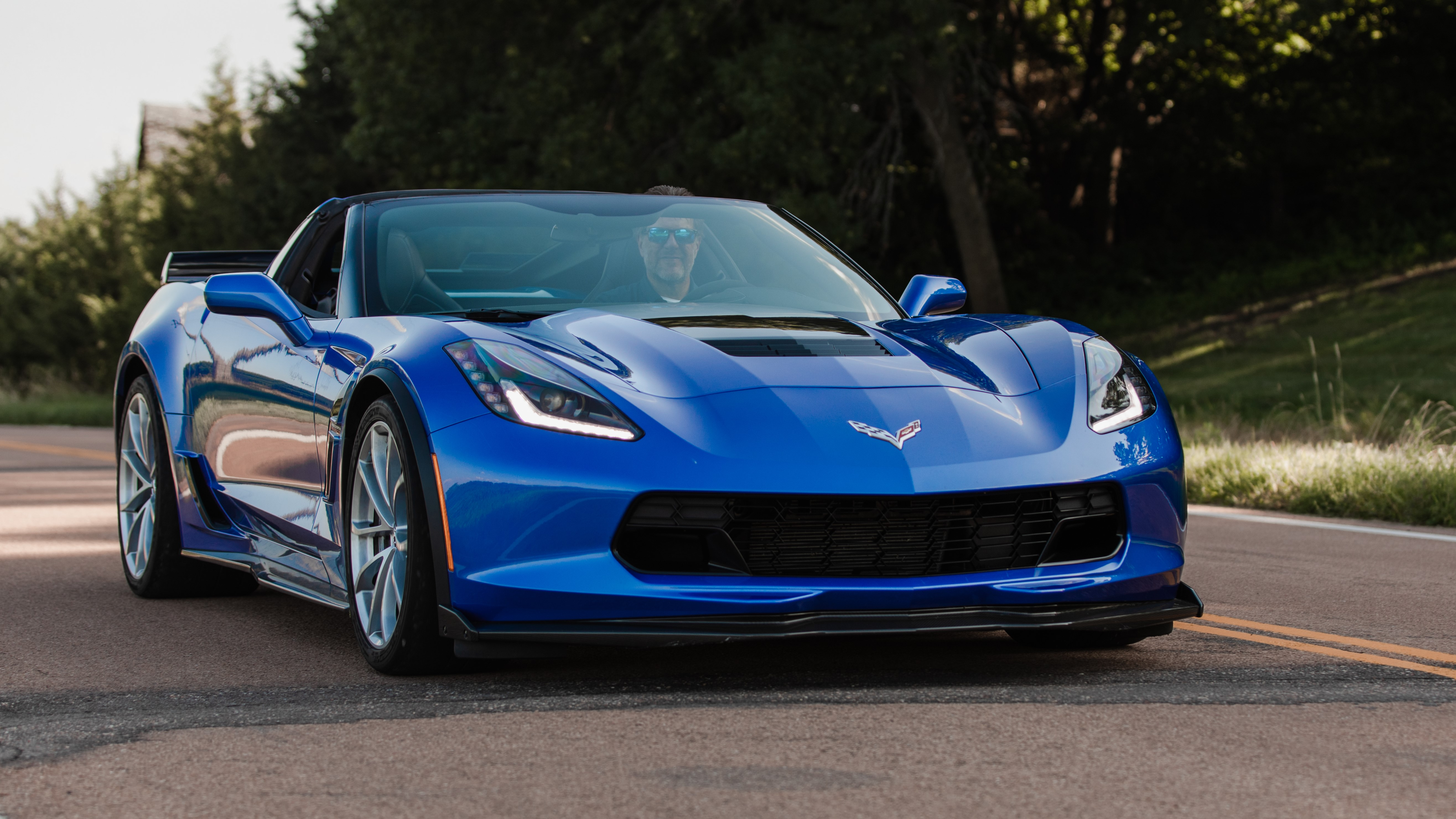 What happens when you record a burnout with a 2019 Chevy Corvette GS