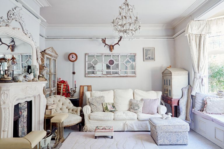 Sell your home quickly: a gorgeous living room belonging to Jane Emery, first seen in Period Living magazine