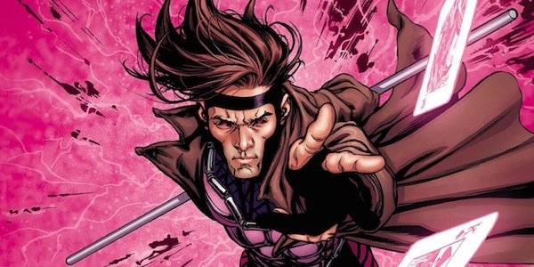 Gambit throwing his kinetic cards in the comics