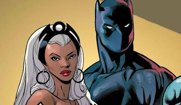 Storm and T'Challa in Comics