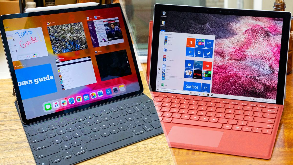 Ipad Pro Vs Surface Pro 7 Which Laptop Replacement Is Better Tom S Guide