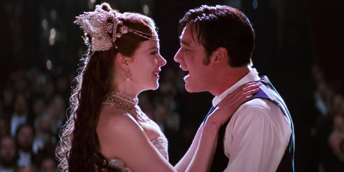Nicole Kidman and Ewan McGregor singing in Moulin Rouge