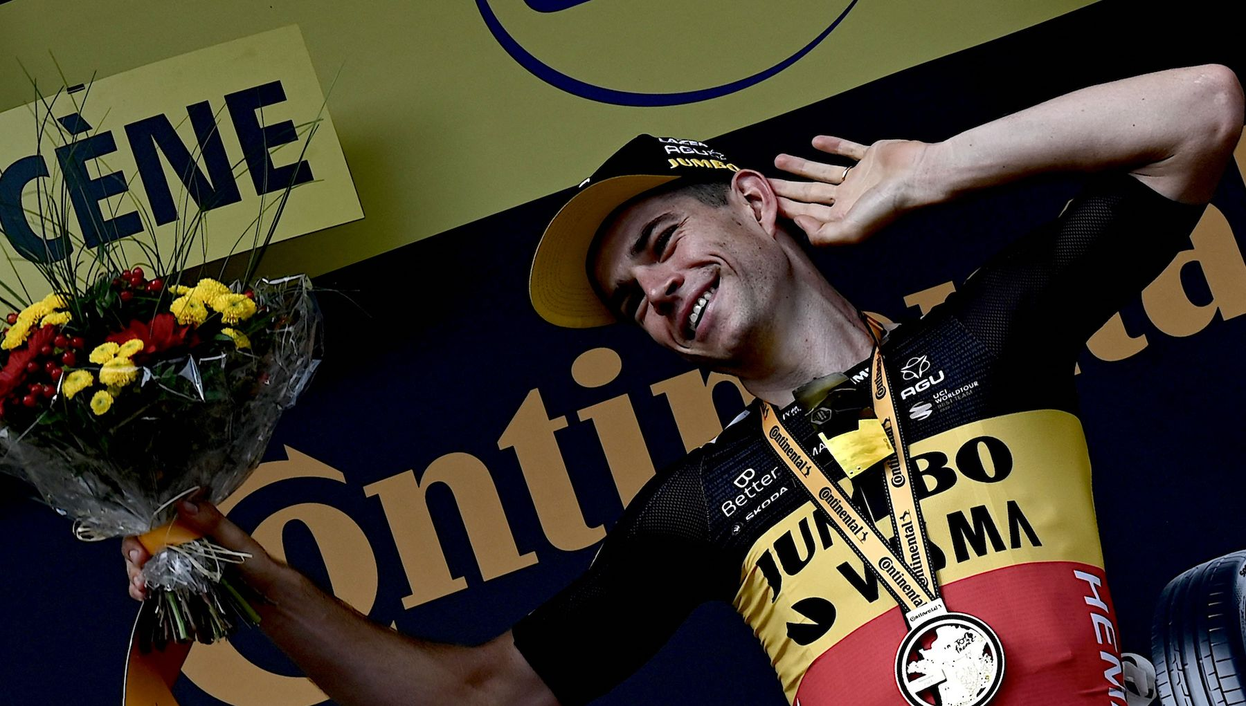 Wout van Aert takes stage 11 of the Tour de France