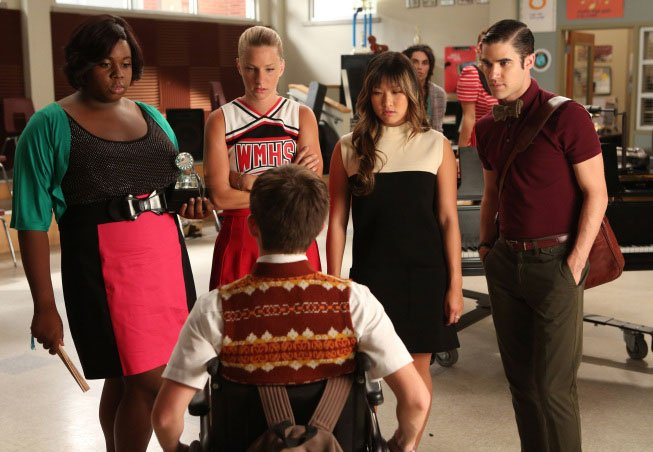 New Glee Photos Capture The Cast Channeling Britney Spears In Season 4 #23641