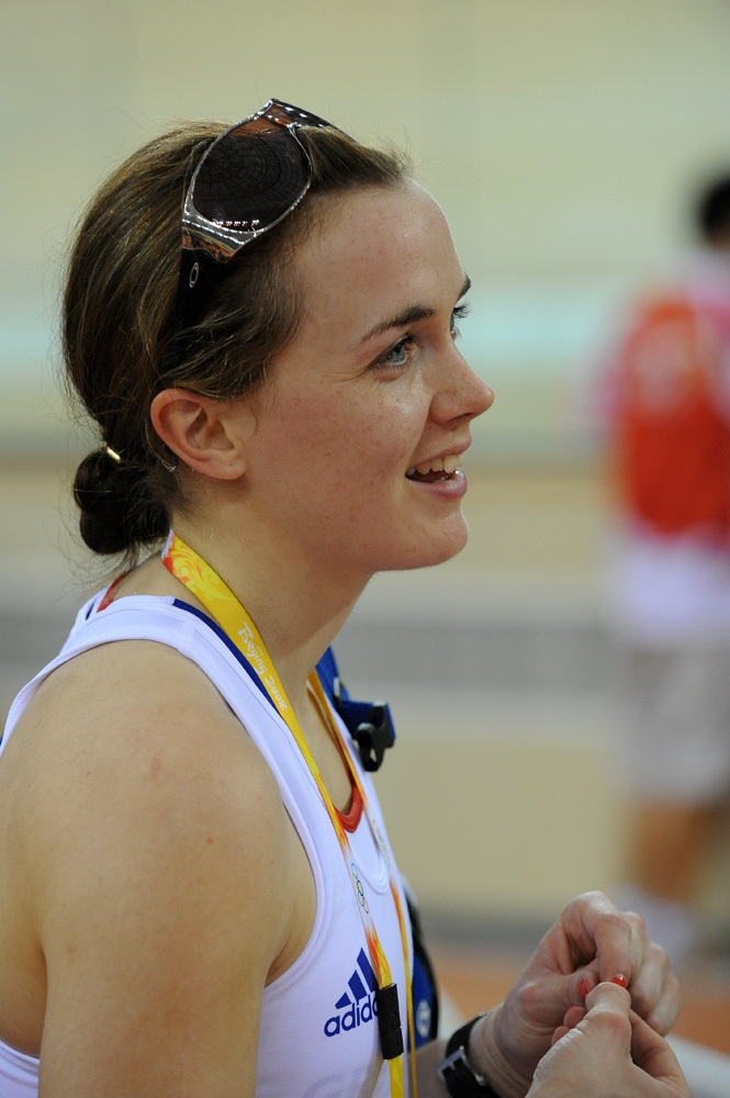 Victoria Pendleton training Olympic Games 2008