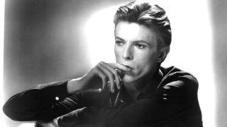 A studio portrait of David Bowie