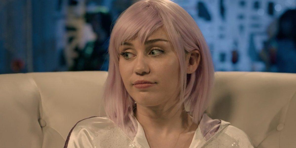 Miley Cyrus looking nervous in Black Mirror Season 5
