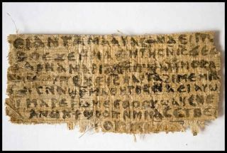 the Gospel of Jesus's Wife papyrus.