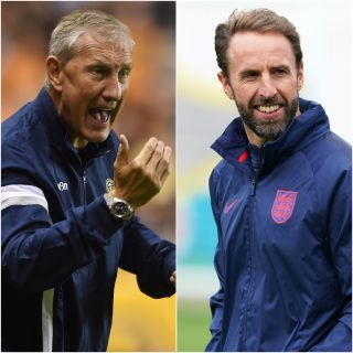 Terry Butcher and Gareth Southgate