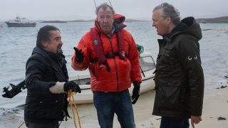 Richard Hammond, Jeremy Clarkson and James May in The Grand Tour Presents: Lochdown