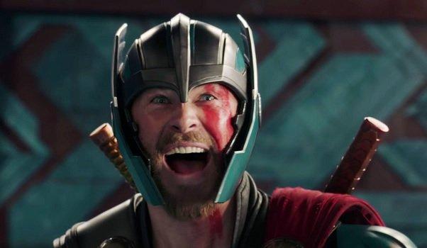 Thor: Ragnarok Chris Hemsworth Thor shouts with glee