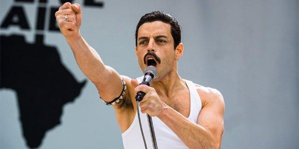 Rami Malek Freddie Mercury Live Aid concert Bohemian Rhapsody