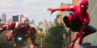 Iron Man and Spider-Man in Homecoming