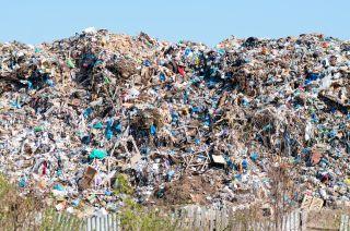 bottles in landfill