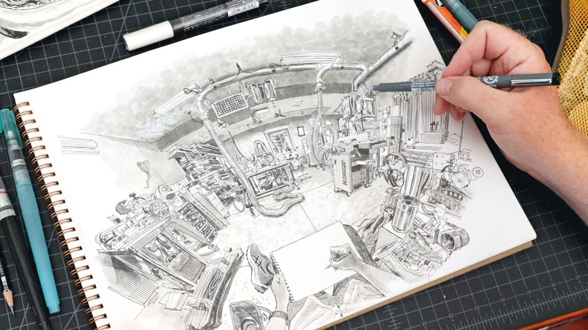 How to draw wide-angle perspective