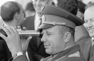 Cosmonaut Yuri Gagarin, as seen in 1963.