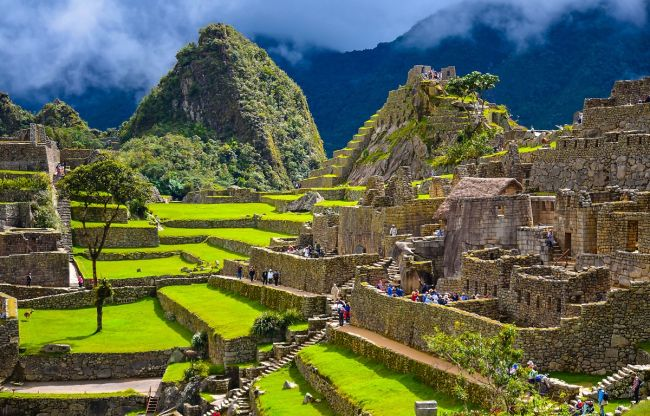 Ancient Inca city of Machu Picchu, Peru.
