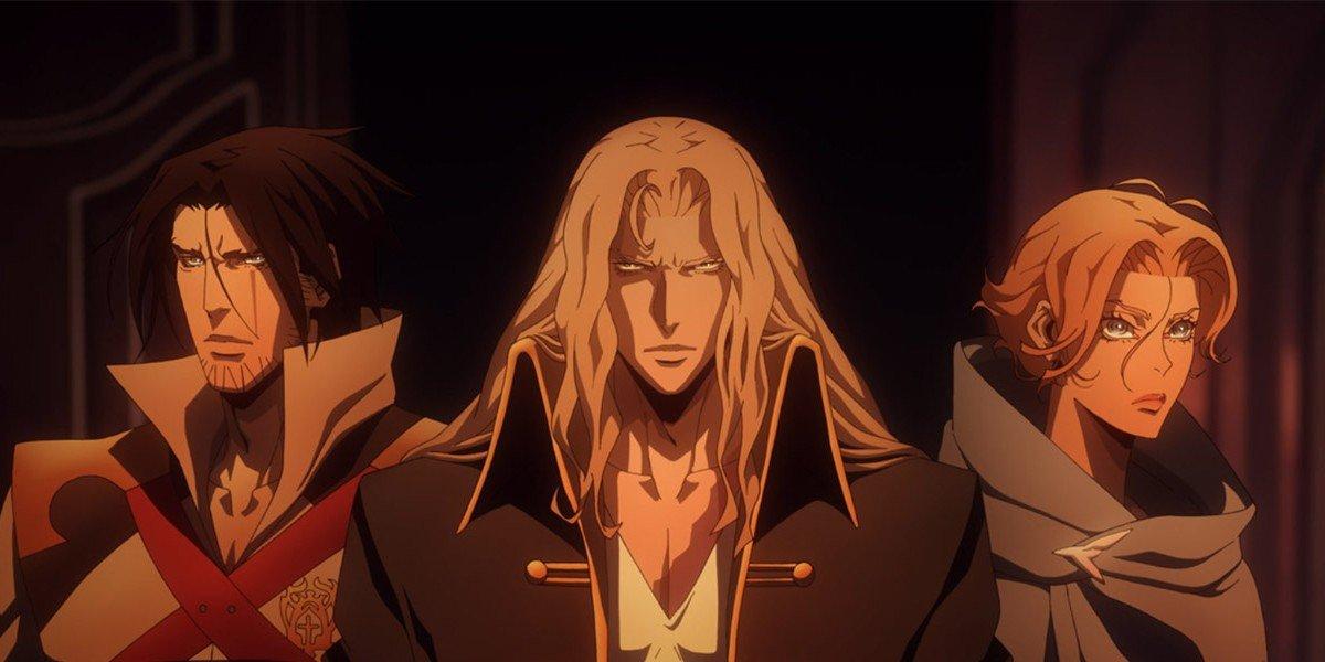 Trevor, left, Alucard, middle, Sypha, right