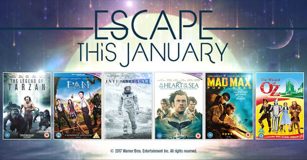 Escape the January blues with Warner Bros!