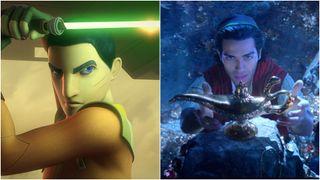Star Wars' Ezra Bridger and Mena Masood in Aladdin