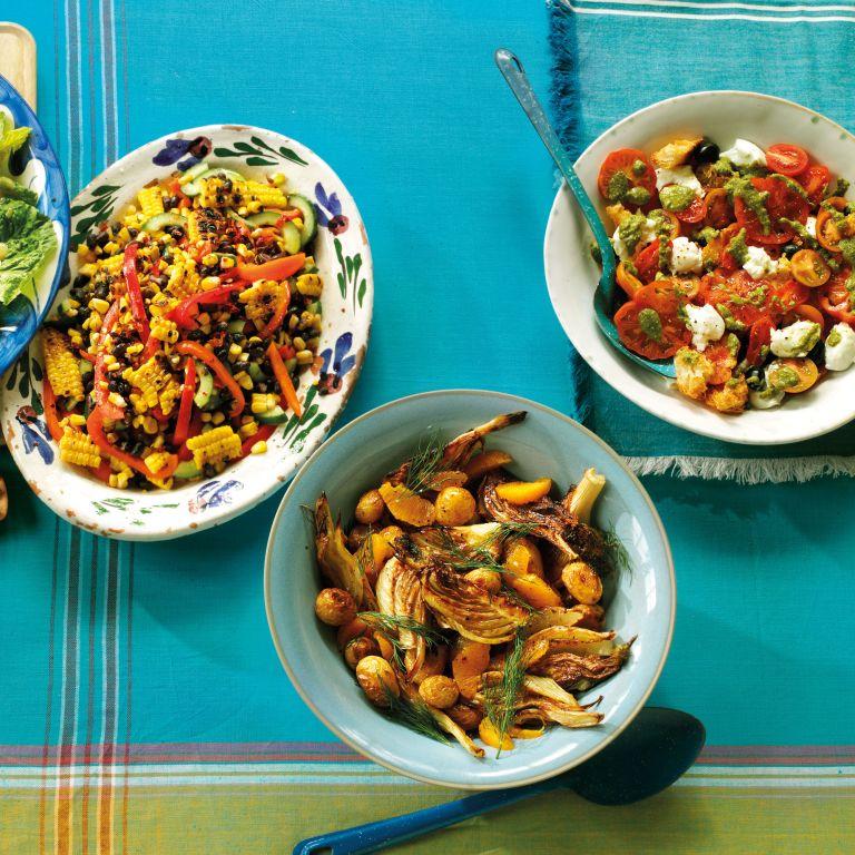 Tomato-Pesto-avocado-Salad-summer salads-woman and home
