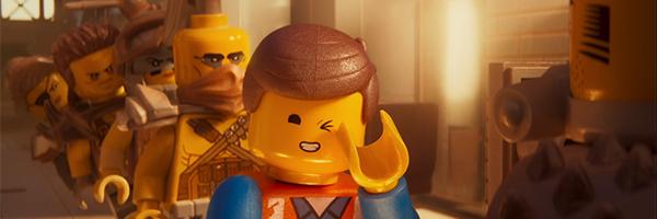 Chris Pratt's Emmet Brickowski holding up the line in The Lego Movie 2: The Second Part