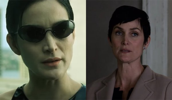 Carrie-Anne Moss as Trinity and Jeri Hogarth