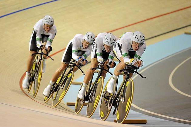 Australia team pursuit world champions gold medal winners 2010 world track championships Copenhagen.jpg