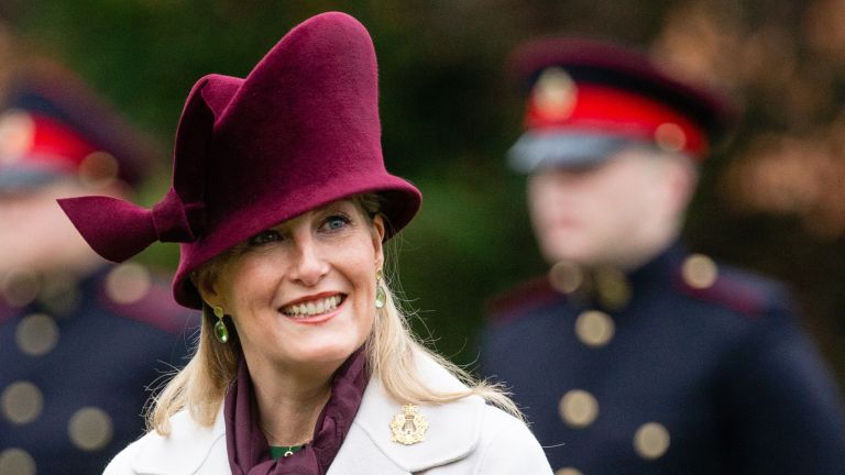 Sophie Wessex Christmas Card: Countess of Wessex visits the Corps of Army Music for a renaming ceremony and short parade at Kneller Hall