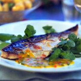 Phil Vickery-grilled mackerel with mango and chilli-phil vickery recipe-woman and home