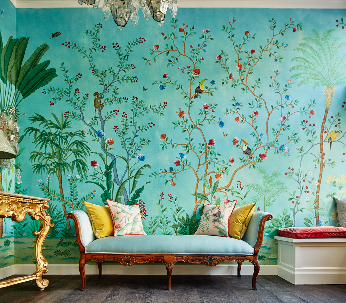 Collab Alert: De Gournay X Aquazzura : Amazonia Collection