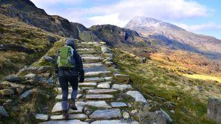 backpacking hacks: hiker on trail