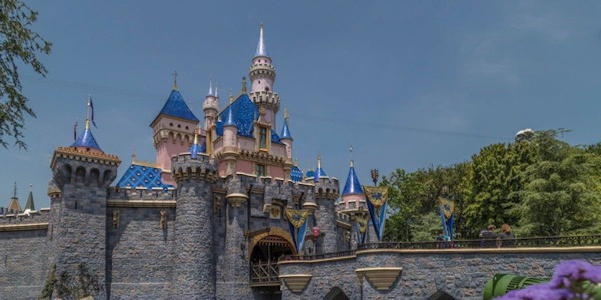 Sleeping Beauty castle in Disneyland in Anaheim, California