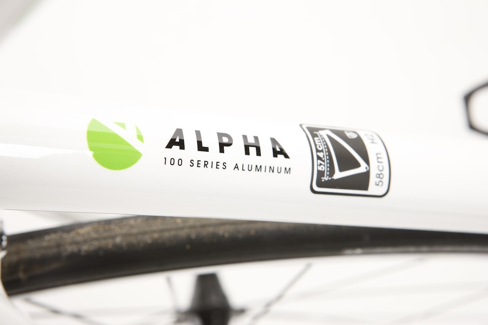ddf23b15afe The seat tube with the Alpha Aluminium badge