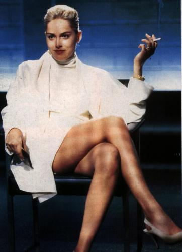 Basic Instinct - Sharon Stone as bisexual millionaire novelist Catherine Trammell