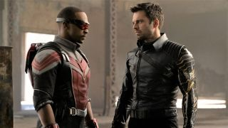Sam Wilson (Anthony Mackie) and Bucky (Sebastian Stan) in Falcon and The Winter Soldier