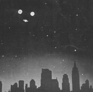 "This image by Charles H. Coles from the cover of ""The Sky"" in December 1937 depicts the triangle pattern of the planets Jupiter, Saturn and Mars as it could have appeared on Feb. 6, B.C. Some astronomers have speculated that this pattern may have been the"