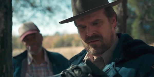 Hopper investigating in Season 2
