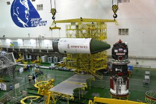 Russia's Roscosmos space agency will launch the Progress 70 cargo ship on the fastest flight yet to the International Space Station from Baikonur Cosmodrome, Kazakhstan on July 9, 2018. Here, Progress 70 is prepared for flight.