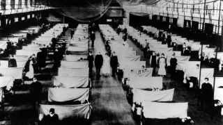 During the 1918 influenza pandemic, warehouses were converted to keep infected people quarantined.
