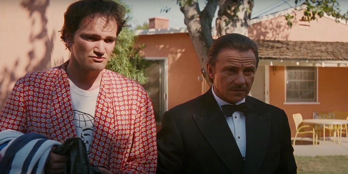 Quentin Tarantino and Harvey Keitel in Pulp Fiction