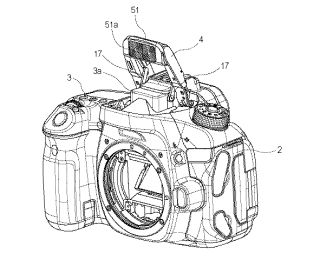 Canon patents pop-up LED for on-camera continuous lighting