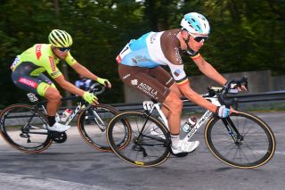 AG2R La Mondiale's Oliver Naesen pushes the pace on stage 3 of the 2020 Tour de Wallonie