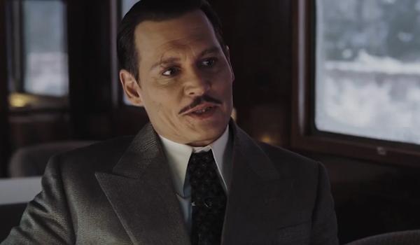 Johnny Depp as Ratchett in Murder on the Orient Express